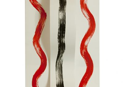 Bends and Curves white red and black